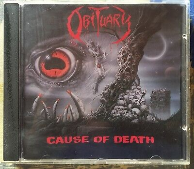 OBITUARY - Cause of Death CD 1st Press 1990