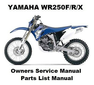 YAMAHA WR250 F/R/X Owners Workshop Service Repair Parts List Manual PDF on CD-R