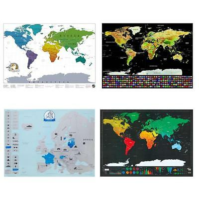 Deluxe Scratch Off World Map Poster Journal Log Giant Maps Of The World Gift