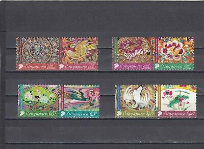 Singapore - Sg1771-1778 Mnh 2008 Peranakan Museum Collection