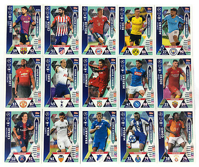 2018 2019 Topps Match Attax Champions League set of 15 cards SUPER STRIKER