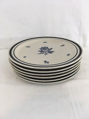 "Newcor Japan 1985 Versailles Stoneware 10 5/8"" Blue Flower Dinner Plate"