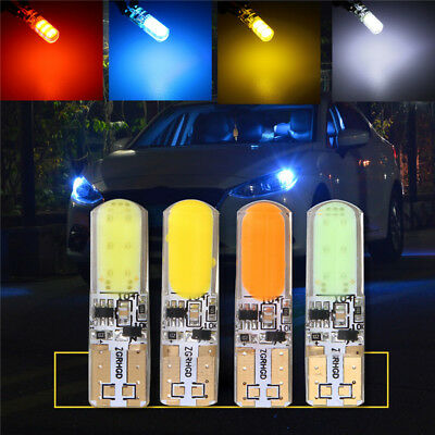 2x T10 194 168 W5W COB 20SMD SILICA Super Bright LED Strobe wedge Light Bulb 12V
