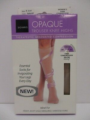 SIGVARIS OPAQUE KNEE HIGHS THERAPEUTIC COMPRESSION 20-30 mmHg SMALL - NT 3209