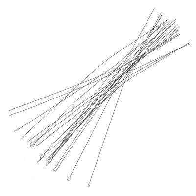 Flexible Soft Twisted Wire Beading Needles 0.24mm Steel Pack of 25 (E39/8)