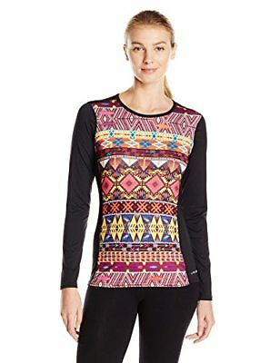 Hot Chillys Women's Micro Elite Sub Print Crewneck Tee, Small, Primitive