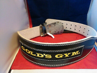 Old School Golds Gym Weight Lifting Belt Leather Back Support Power Training