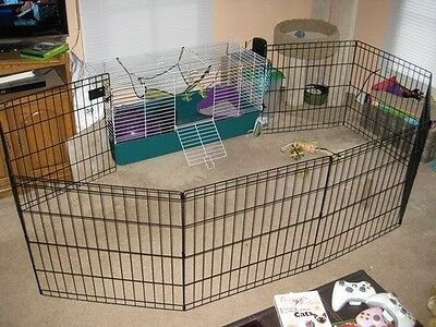 Pet Exercise Pen Door Dog Cat Gate Guard puppies training fence cage 30 house