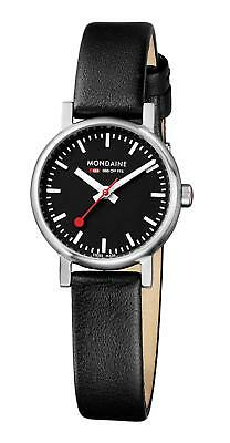 Mondaine Women's A658.30301.14SBB 26mm Quartz Evo Leather Band Watch