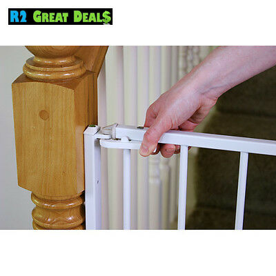 Regalo Extra Tall Stairway Baby Gate 27 54 With Swing Door Stairs
