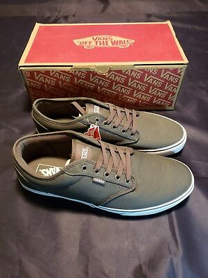 264dba124dc8 MENS VANS SIZE 12 Atwood Canvas Pewter   White Skate Shoe New In Box ...