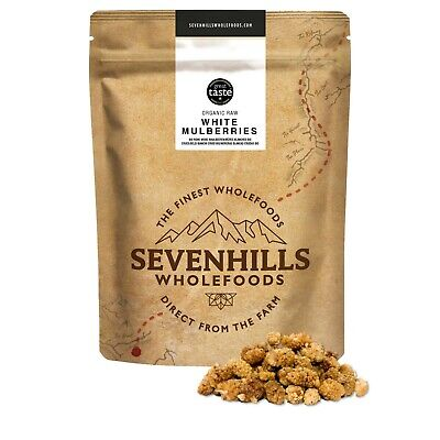 Sevenhills Wholefoods Organic Raw White Mulberries | Immune System, Heart Health