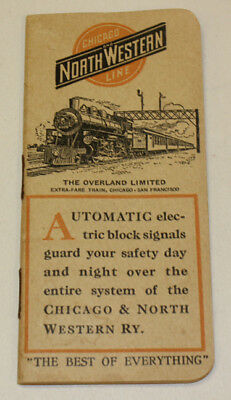 1915 North Western Chicago Line Overland Limited Customer Booklet