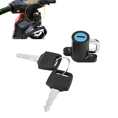 Universal Anti-theft Security Motorcycle Helmet Lock with 2 Keys Lock Kit US