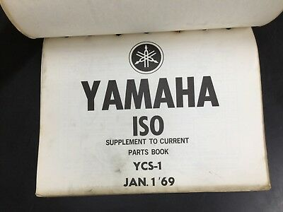 Used Vintage Yamaha ISO Supplement To Current Parts Book List YCS-1  OMB4