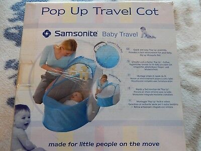 Samsonite kleinste Reisebett Baby Travel Pop-Up Reisezelt