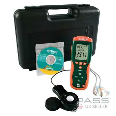 NEW Extech HD400 Heavy Duty Light Meter + Sensor,Cable,Software,Case - UK Stock