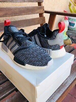 ef1ef5a83591c Adidas NMD Runner R1 BB2884 Nomad Grey Glitch Camo Core Black Red Sz 11 ( Used