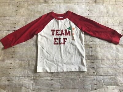 Gymboree Boys 2T Holiday Team Elf Long Sleeved Shirt NEW NWT