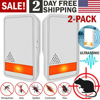 Ultrasonic Pest Repeller Electronic Reject Bugs Spiders Mouse Roach Mosquitoes