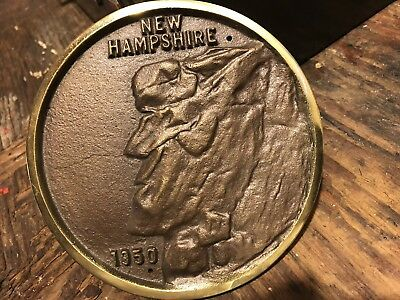 Rare Vintage Old Man Of The Mountain Plaque New Hampshire 1950