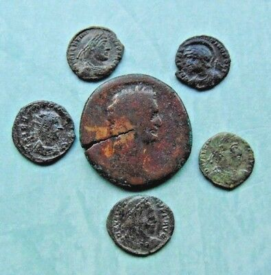 6 pieces of Roman bronze coins LOT!