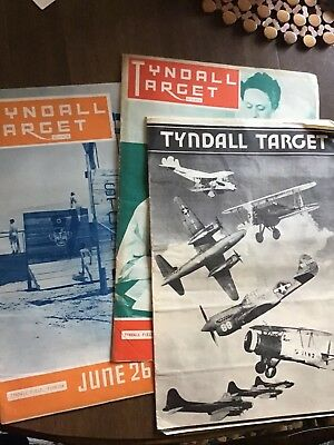 2-1943 1-1944 WW2 Air Force Base Newspapers TYNDALL TARGET Tyndall Field Florida