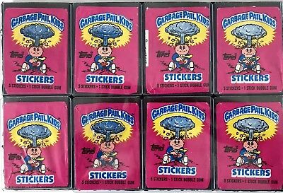 1985 GARBAGE PAIL KIDS OS1 (No .25) WRAPPERS (8)
