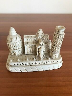 Piazza Dei Miracoli Leaning Tower Pisa Hand Carved Ornament - Travel Souvenir
