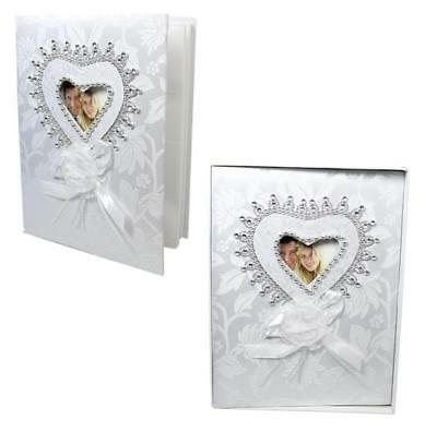 Traditional Royal White Wedding Photo Album With Box, 50 photos, 7 x 5''; Gift