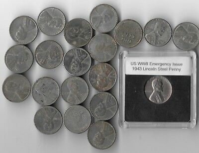 Rare Old WWII US Emergency Steel 20 Coin War Penny Cent Homefront Collection WW2
