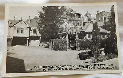 Winchester Mystery House Retired Unused Postcard - South Entrance