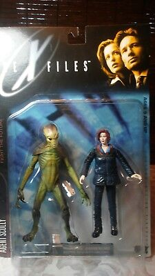 The X-Files, Agent Scully and Alien Action Figures,NEW UNUSED SEALED 1998