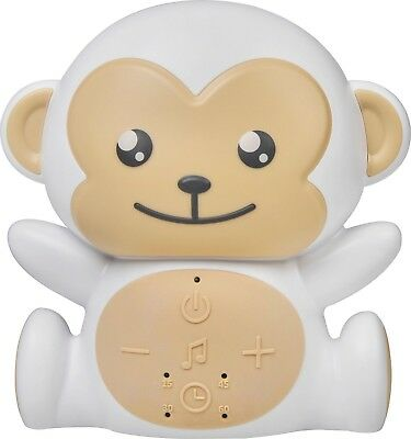 NEW Project Nursery SoundSoother Monkey Sound Machine with Nightlight White/Tan
