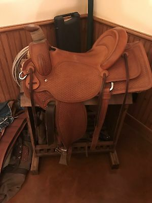 CUSTOM HANDMADE TOOLED Western Saddle - $610 00 | PicClick