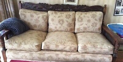 Jacobean Lounge Suite 3 Piece-early 1920's- re-upholstered in 2008 - rarely used