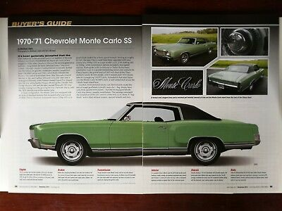 1970 1971 CHEVROLET Chevy Monte Carlo SS - Original 5 Page ...  Monte Carlo Engine Wiring Harness on
