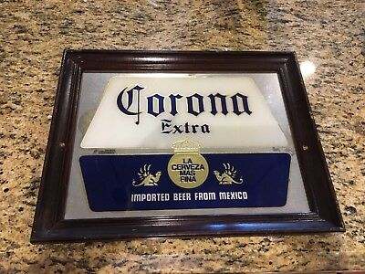 Corona Extra Imported Beer From Mexico Vintage 80's Beer Sign Mirror