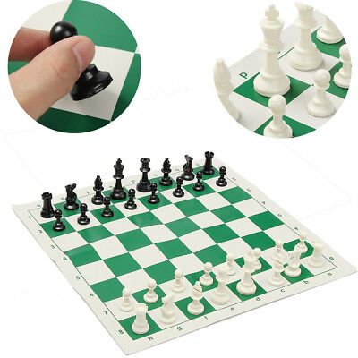 BL_ Portable 32 Pieces Intelligence Contemporary Tournament Chess Set Travel Gam