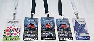Lot of 5 Berkshire Hathaway Meeting Credentials   2010  2011 (3)  2012 Free Ship