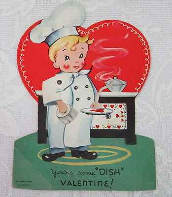 "Mechanical Vintage Valentine, ""You're Some Dish Valentine!"" A-MERI-CARD"