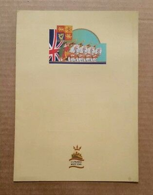 R.M.S. Queen Mary,Cunard White Star Line Menu,Aug.7,1938