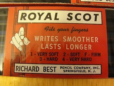 Richard Best Royal Scot No.3 Hard Pencils 2 packages = 12 pencils new in plastic