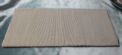 Antique Oatmeal Ticking Fabric Black Pin Stripes 2 Yds Appears Unused