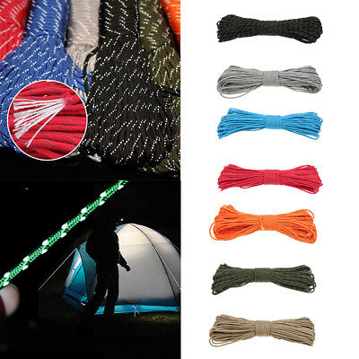 34 Yd Reflective Guyline Tent Rope Camping Cord Paracord 9 Strand Heavy Duty