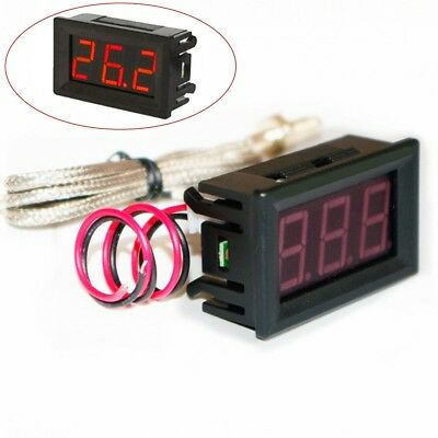 Thermometer K-type Thermocouple High Temperature Tester Digital Display M6 Probe
