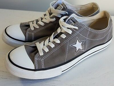 CONVERSE ONE STAR - Gray Canvas Low Top Sneaker Shoe Men's Size 9.5 US
