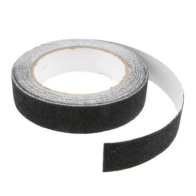 5m Anti Slip Non Skid High Traction Safety Grit Grip Tape Strips, Black