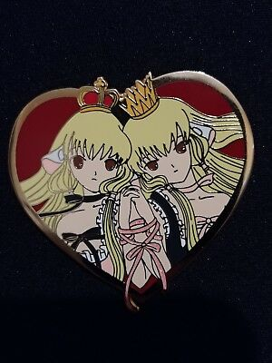 Chobits twin hard enamel pin/ good condition/ glitter ribbon
