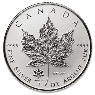 1 - 2017 - 150th Anniversary PRIVY- 1 oz. 9999 Fine Silver Maple Leaf- Protected